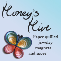 Honey's Hive quilled paper jewelry magnets